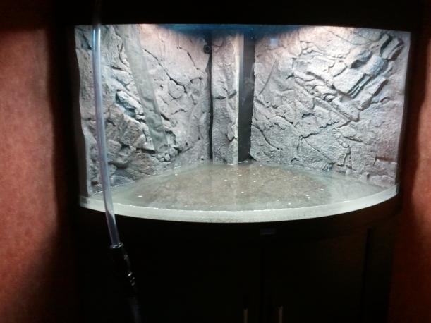 Akvariet - dags för sanden