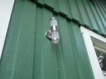Ny lampa på gaveln