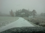 Sista biten hem - betydligt mer snö har hunnit komma