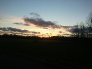 Solnedgång en helt vanlig måndag i november