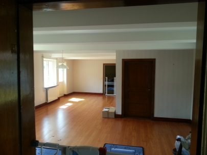 Vardagsrummet - det behövs lite möbler... ;)