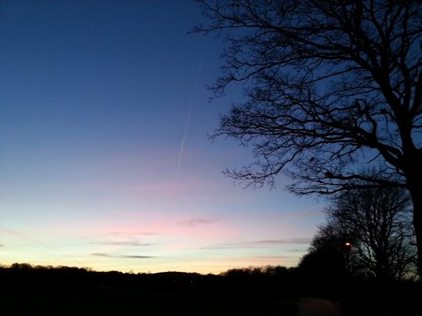 Underbar solnedgång