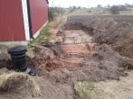 Infiltrationsbädd grävs