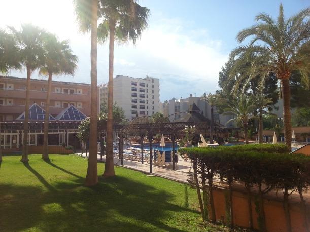 Utsikt från balkongen på hotellet