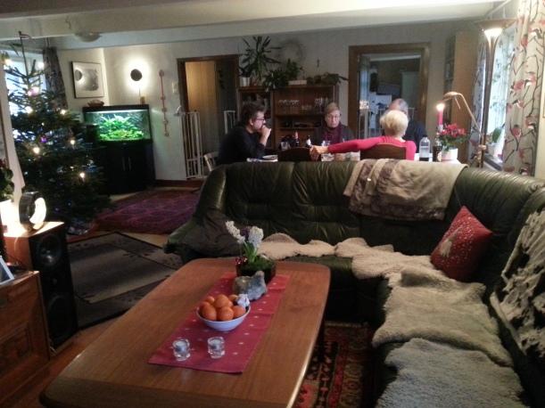 Julaftonslunch med föräldrarna