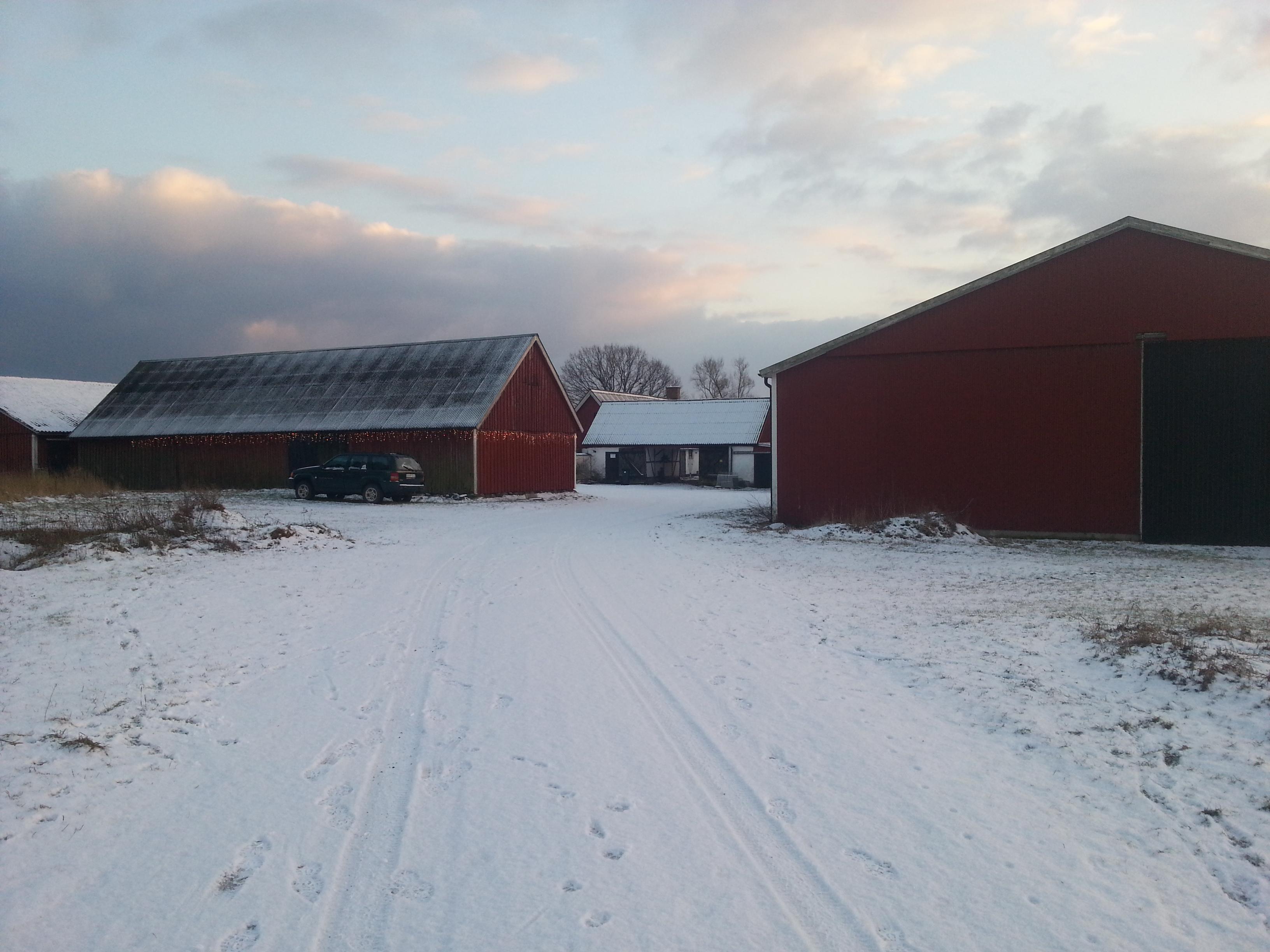 Fint med lite snö!