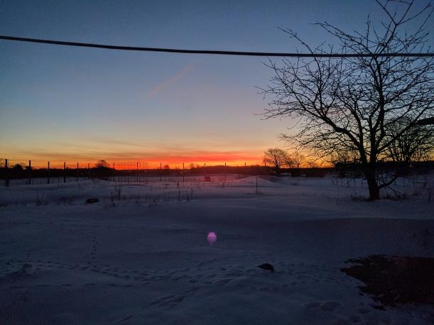 Alla Hjärtans Dag börjar med en härlig soluppgång